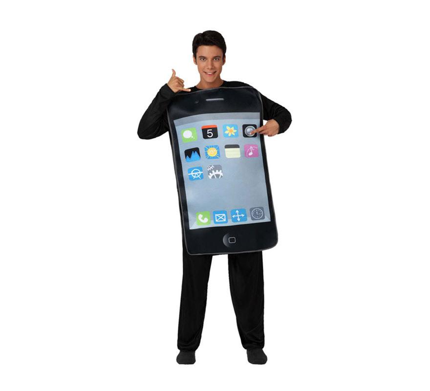 Disfraz de Teléfono Móvil o de Iphone para adultos. Incluye disfraz de móvil. Un disfraz ideal para Grupos y muy original.