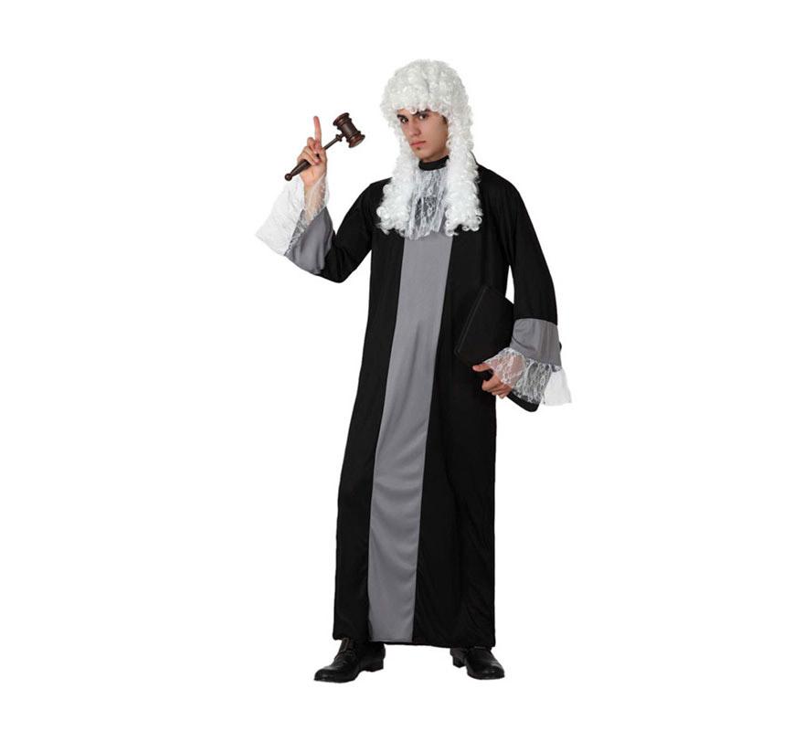 Disfraz de Juez o Magistrado para hombre. Talla M-L = 52/54. Incluye túnica. Peluca y martillo NO incluidos. Podrás encontrar pelucas en la sección de Accesorios, y el martillo lo podrás encontrar con la ref: 17085AT.