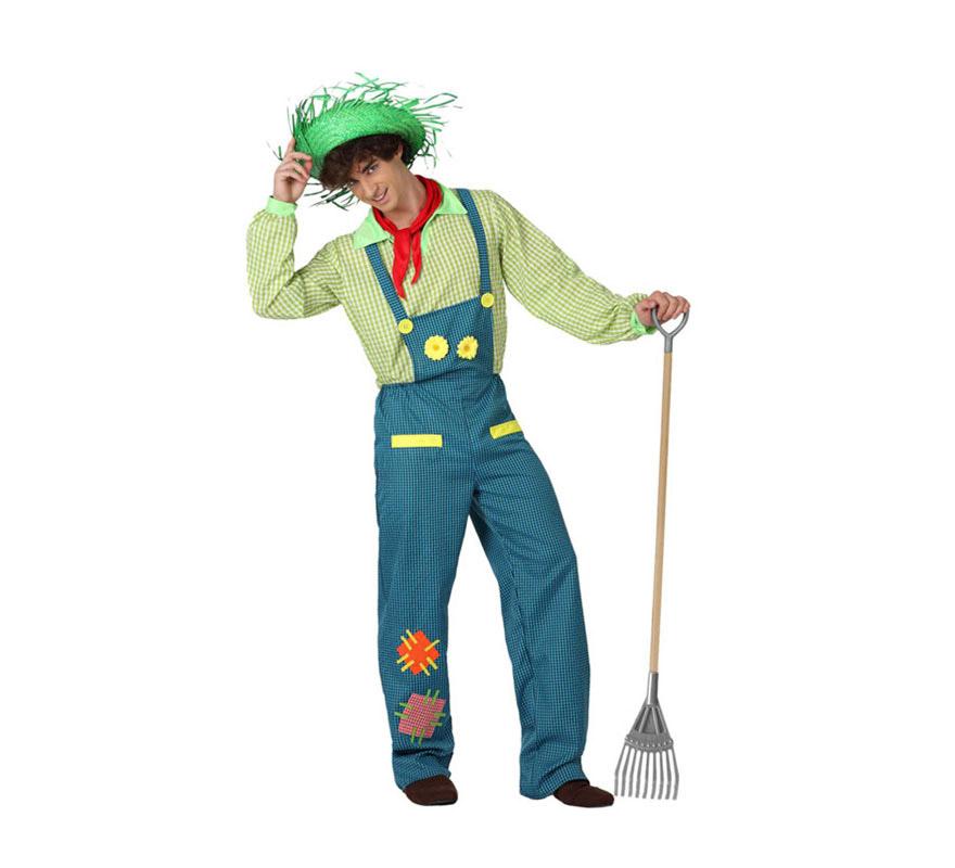 Disfraz de Granjero para hombre. Talla 2 ó talla M-L = 52/54. Incluye mono, camisa y pañuelo. Sombrero NO incluido, podrás encontrarlo con la ref: 13624GUI.