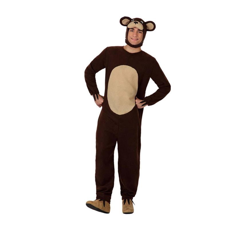 Disfraz de Oso Marrón para hombre. Talla 3 o talla XL = 54/58. Incluye mono y capucha.