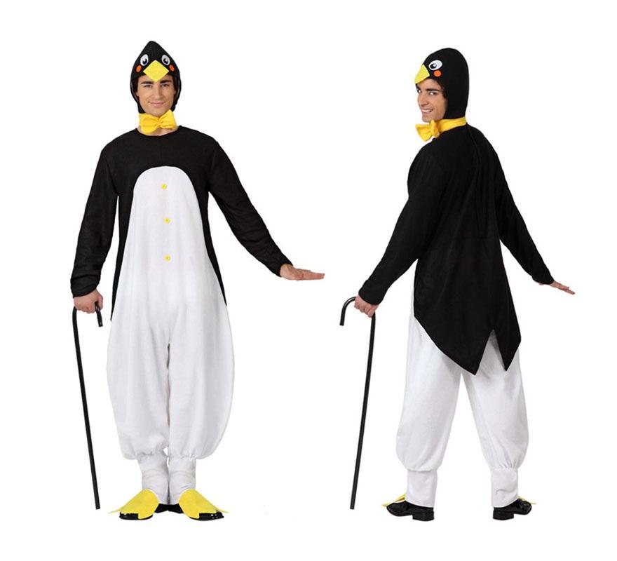 Disfraz de Pingüino para hombres. Talla 3 o talla XL = 54/58. Incluye disfraz completo SIN el Bastón. Con este disfraz harás muy buena pareja con la Pingüina.