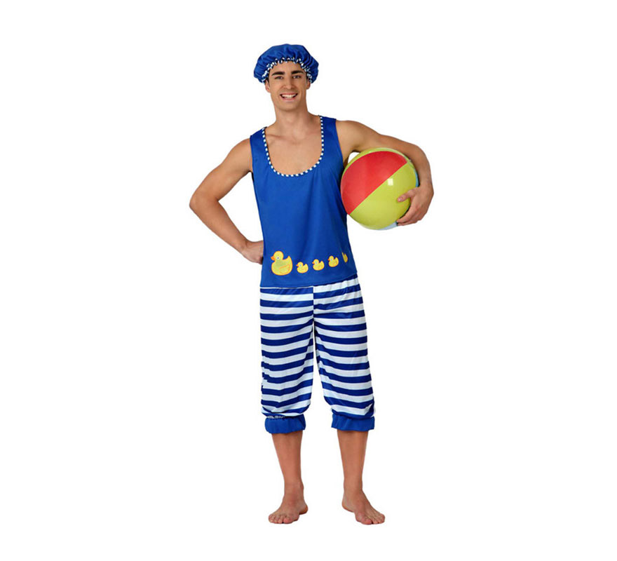 Disfraz de Bañista para hombre. Talla 2 ó talla M-L = 52/54. Incluye disfraz completo SIN pelota. Ideal para Despedidas de Soltero.