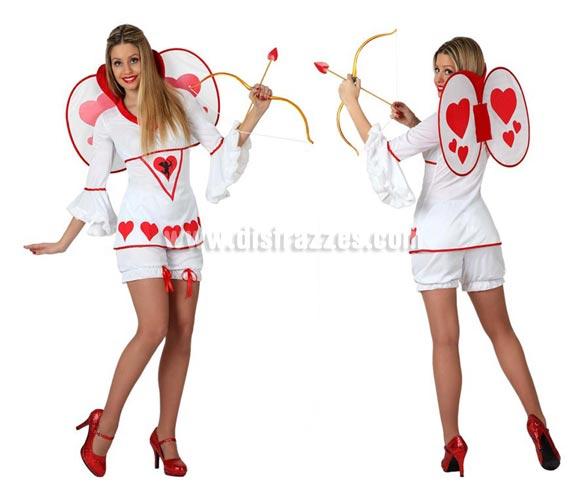 Disfraz de Cupido para mujeres. Talla 2 ó talla M-L = 38/42. Incluye disfraz completo SIN arco y flecha y SIN zapatos. El arco lo podrás ver en la sección de Complementos. Perfecto para Despedidas de Soltera.
