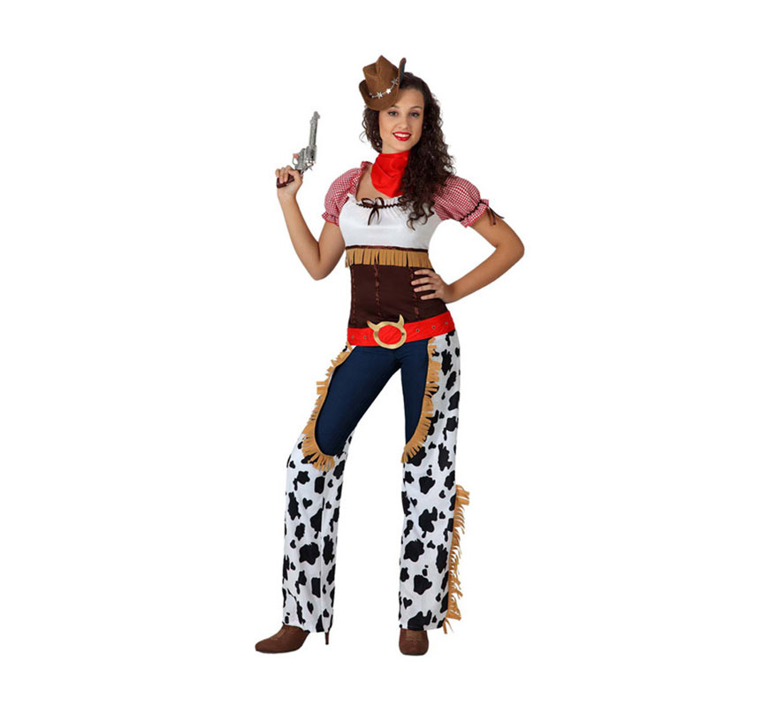 Disfraz barato de Vaquera para mujer talla XL