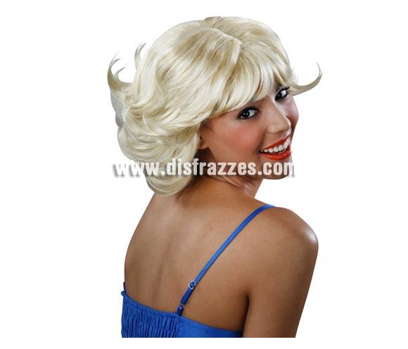 Peluca corta de color rubio. Perfecta para disfrazarse de Marilyn.