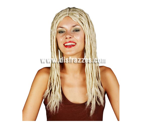 Peluca rubia de rastas - Rastafari. Perfecta para disfrazarte de Shakira.