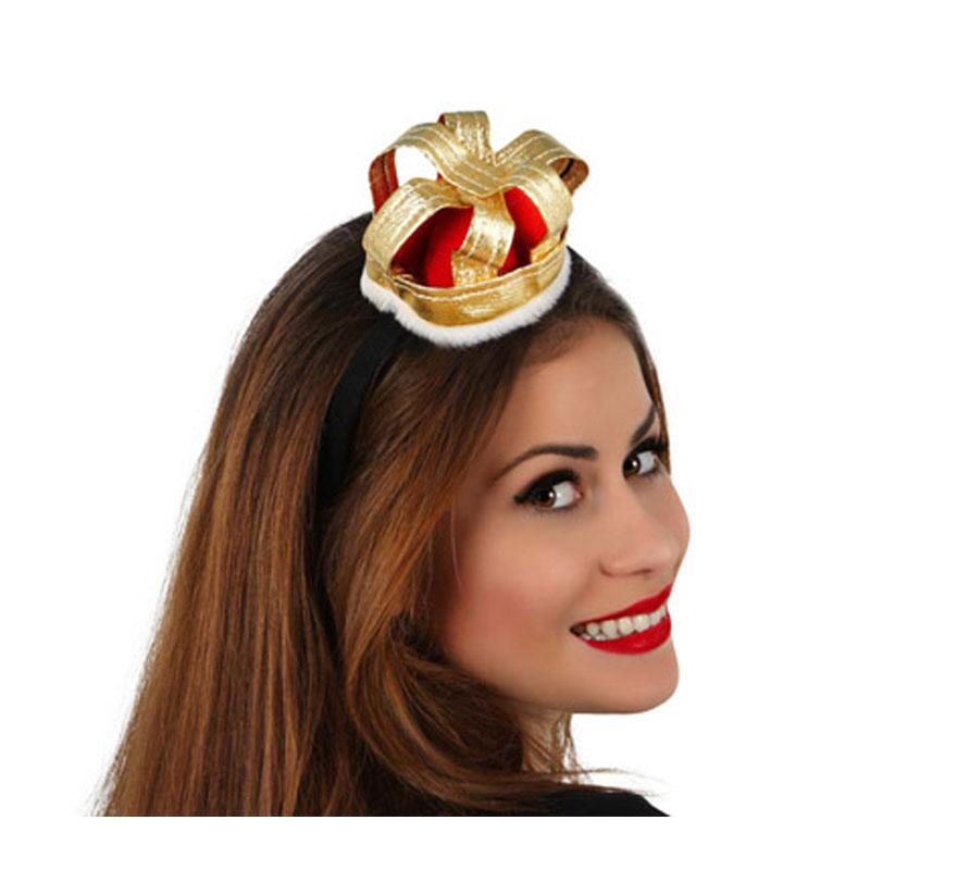 Corona de Reina de Corazones con diadema. Perfecto para disfraces de Reina Medieval.