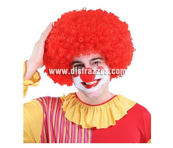 Peluca Payaso Afro roja.