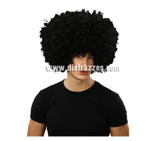 Peluca Afro negra.