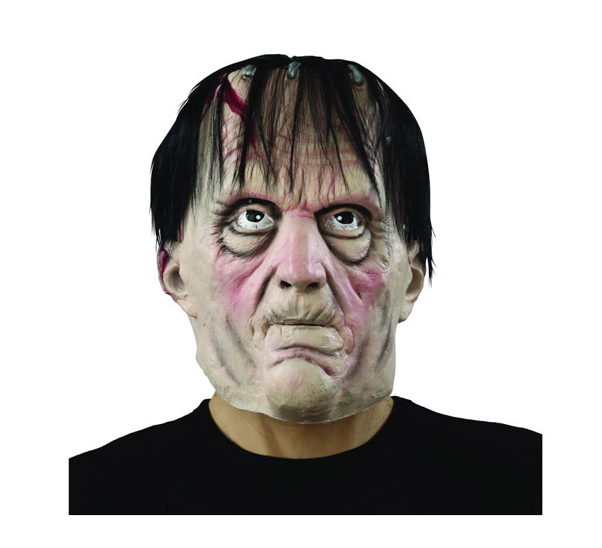 Máscara de Monstruo Frankenstein con pelo negro.