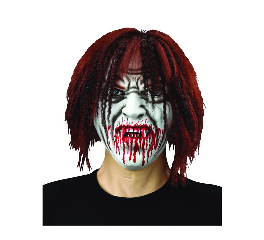 Máscara de Vampiro con pelo de látex para Halloween.