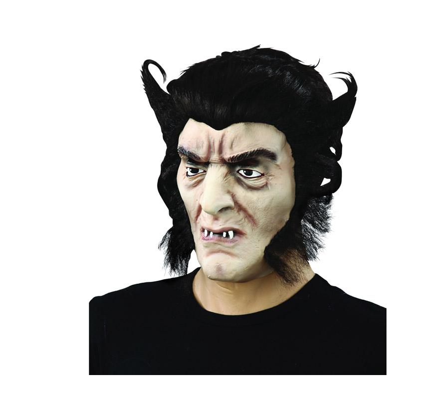 Máscara latex de Hombre Lobo o Licántropo con pelo.
