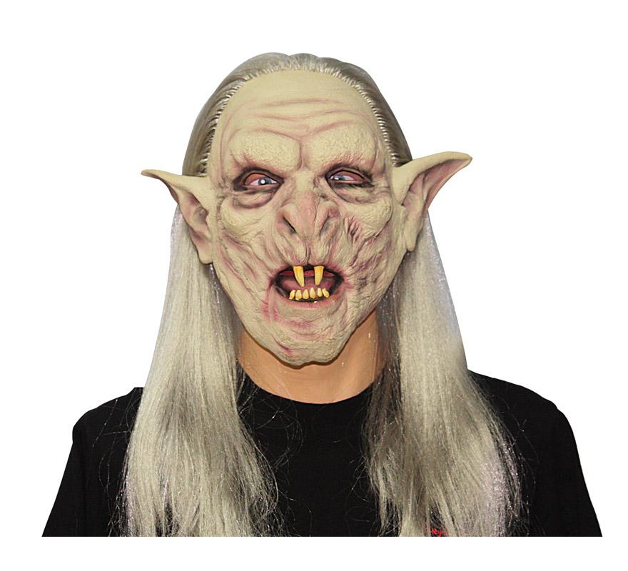 Máscara latex de Monstruo o Troll con pelo. Perfecta para imitar la Película del Señor de los anillos.