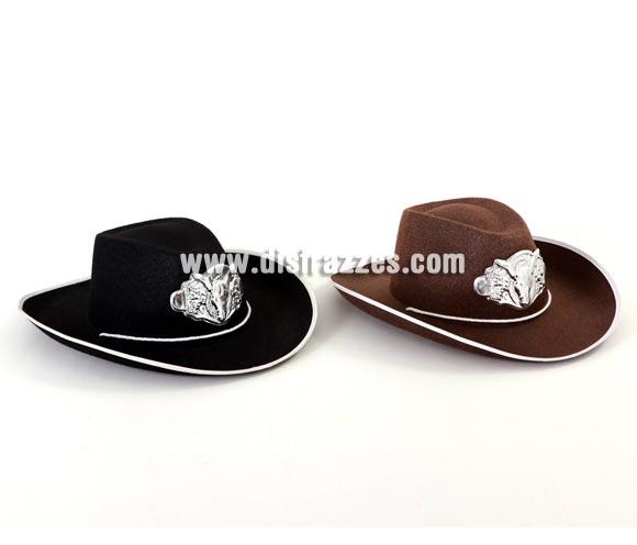 Sombrero de Cowboy 2 colores. Precio por unidad, se venden por separado. Sombrero o gorro perfecto para disfrazarte de Vaquero o Pistolero del lejano Oeste.