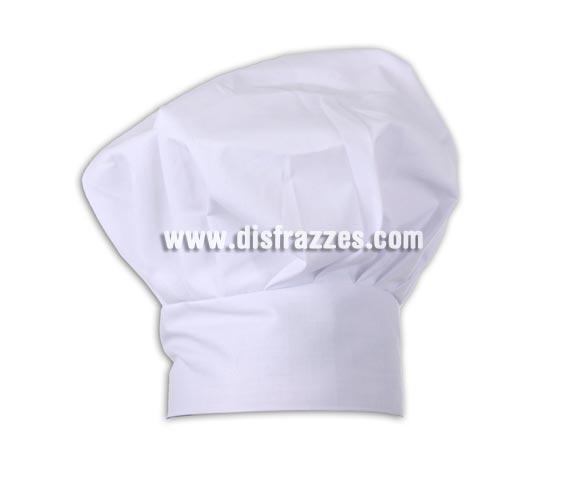 Sombrero o gorro de Cocinero 28x19 cm.