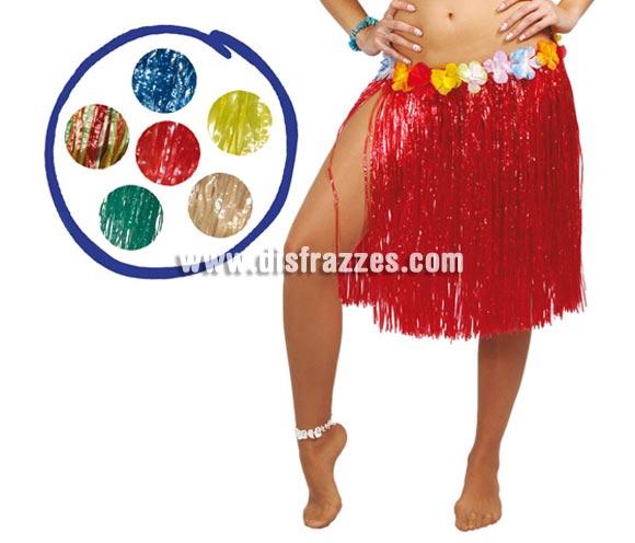 Falda Hawaiana con flores en la cintura de 55 cm. Disponible en varios colores. Precio por unidad. Perfecta para hacer Fiestas de Hawai en Verano.