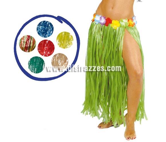 Falda Hawaiana con flores en la cintura de 75 cm. Disponible en varios colores. Precio por unidad. Perfecta para hacer Fiestas de Hawaii en Verano.