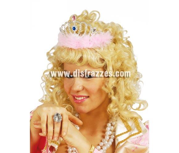 Diadema Plata con plumas para Princesas. También para Despedidas de soltera.