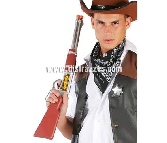 Rifle con sonido 62 cms. Perfecto como complemento de tu disfraz de Pistolero o Vaquero.