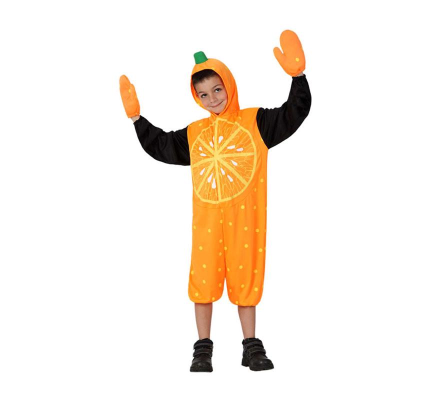 Disfraz de Naranja para Niño de 5 a 6 años. Incluye Disfraz y Manoplas. Completa tu disfraz con artículos de nuestra sección de accesorios.
