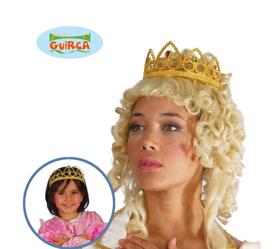 Diadema o Tiara de color ORO. Válida para todas las edades. El complemento perfecto para disfraces de Reina o Princesa.