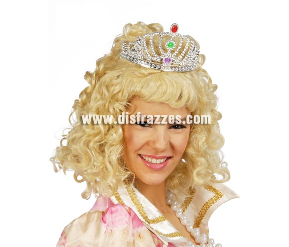 Tiara o Diadema de Princesa de color plata. Válida para todas las edades.