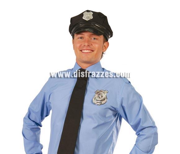Placa de Policía metálica.