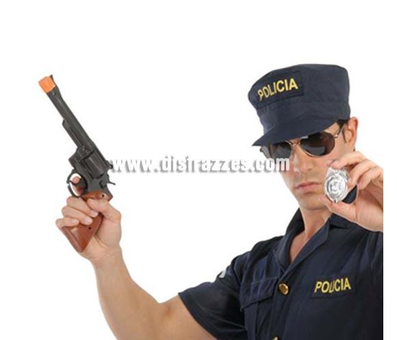 Set Pistola Magnum y chapa de Policía. El precio incluye ambas cosas.