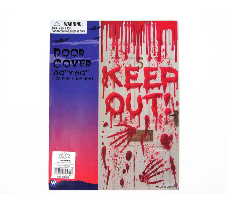 Decoración sangrienta para puertas de 76 x 152 cm. para Halloween el texto del mural no es