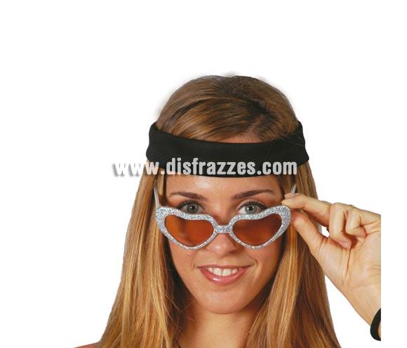 Gafas de corazón escarchadas. Seis colores surtidos, precio por unidad, se venden por separado.