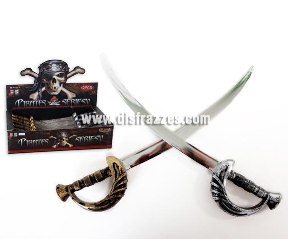 Espada Pirata mango oro o plata. Precio por unidad, se venden por separado.