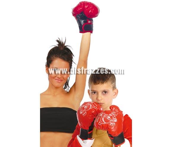 Par de guantes de boxeo para mujeres y niños.