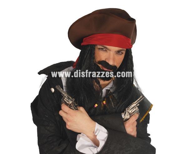 Bolsa 2 pistolas 16 cm. Perfectas para disfraz de Pirata, Vaquero, Ganster, etc.