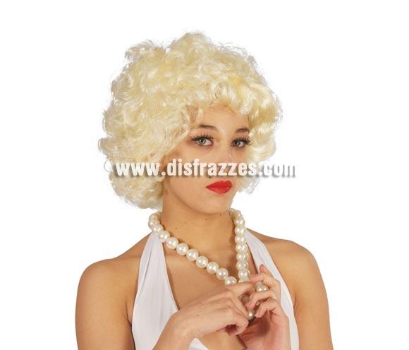 Collar de Perlas. Perfecto para disfraz de Marilyn, Charlestón, Wilma, etc.