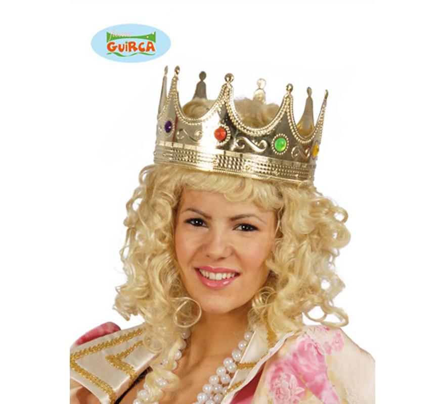 Corona de Rey o Reina. Sirve perfectamente para disfraces de Rey Mago en Navidad.