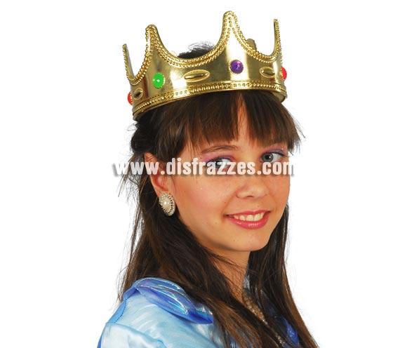 Corona de Rey o Reina infantil. Perfecta para disfraces de Rey Mago infantil en Navidad.