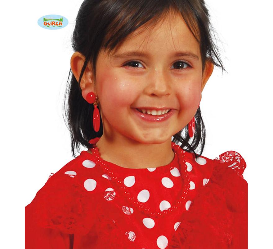 Collar Andaluza de color rojo infantil.