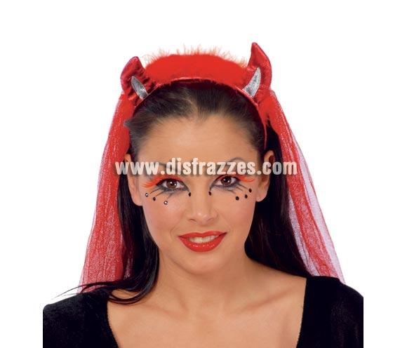 Diadema de Diablo con tela. Ideal para Despedidas de Soltera.