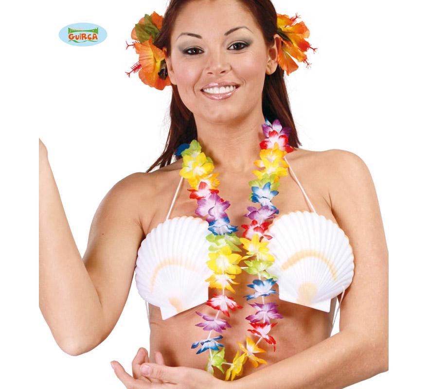 Collar Hawaiano de tela.