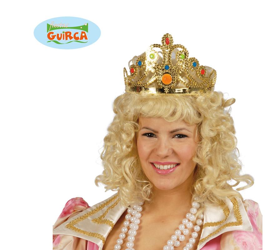 Corona o Diadema de Reina oro. Perfecta también para disfraces de Princesa. Ajustable.
