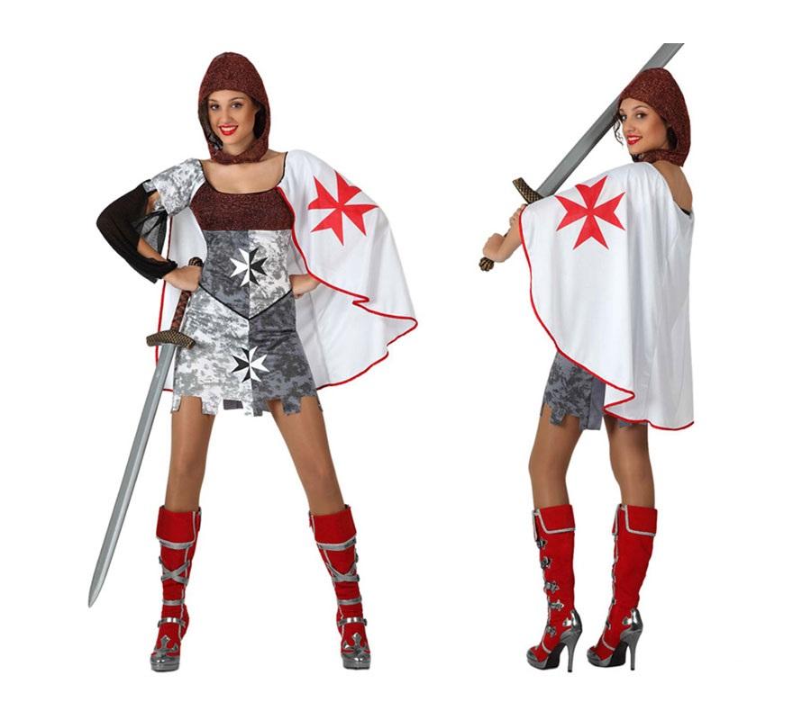 Disfraz de Guerrera Medieval para chicas. Talla 1 ó talla S = 34/38 para chicas delgadas y adolescentes. Incluye disfraz SIN espada y SIN botas. La espada la podrás ver en la sección de Complementos.