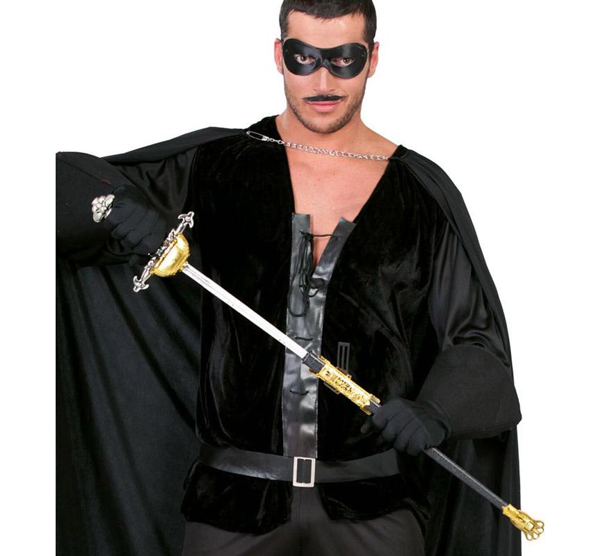 Sable con empuñadura de Héroe Enmascarado de 67cm. Perfecta para el disfraz de Mosquetero y del Zorro.
