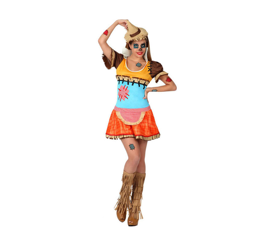 Disfraz de Espantapájaros Sexy para mujer. Talla 3 ó talla XL = 44/48. Incluye vestido y gorro. Perfecto para disfrazarse de la película El Mago de Oz junto con los demás personajes.