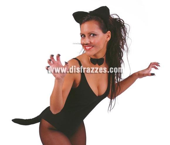 Conjunto de gatita. Incluye diadema, pajarita y cola. Perfecto para Despedidas de Soltera.