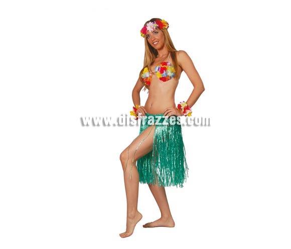 Falda hawaiana extra 55 cm.(6 colores).