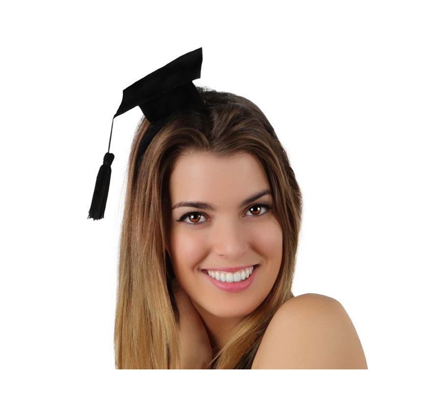 Mini Sombrero de Licenciado o de Graduado con diadema.