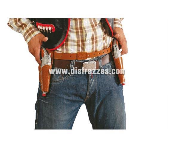 Cartuchera doble con Pistolas. Perfectas para los disfraces de Pistolero o Vaquero.