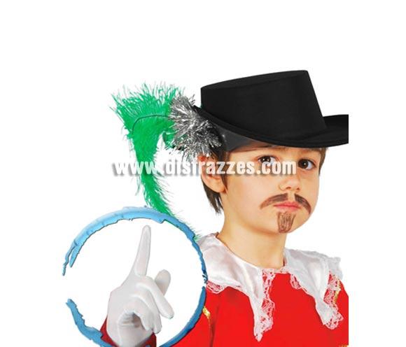 Par de guantes infantiles Blancos de 22 cm. Perfectos como complemento de los disfraces de Rey Mago para niños.