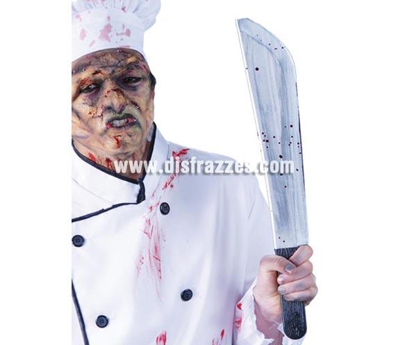 Machete de plástico de 53 cm. manchado de sangre para Halloween.