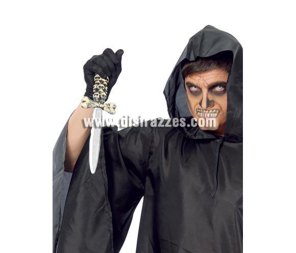 Puñal calavera 30 cm. Perfecto para los disfraces de Piratas y de Halloween.
